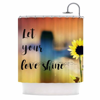 Let Your Love Shine Photography Shower Curtain