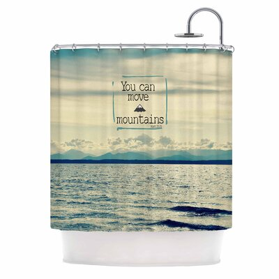 You Can Move Mountains Photography Shower Curtain