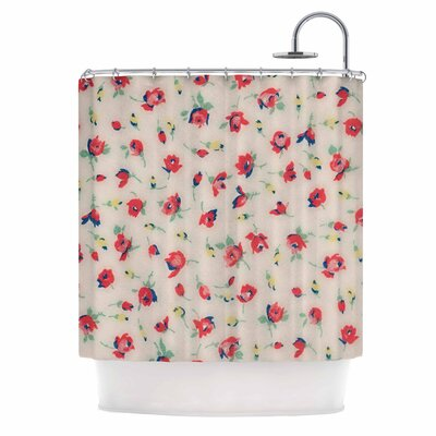 Vintage Flower Love Shower Curtain