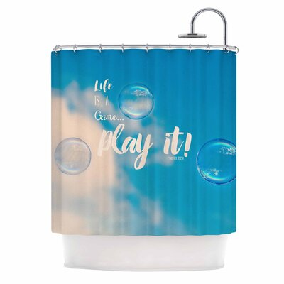 Life is a Game Photography Shower Curtain