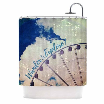 Wander & Explore Photography Shower Curtain