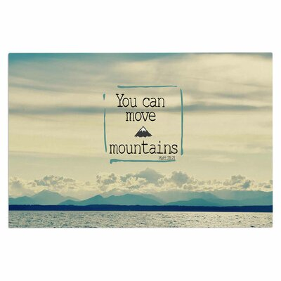 You Can Move Mountains Doormat
