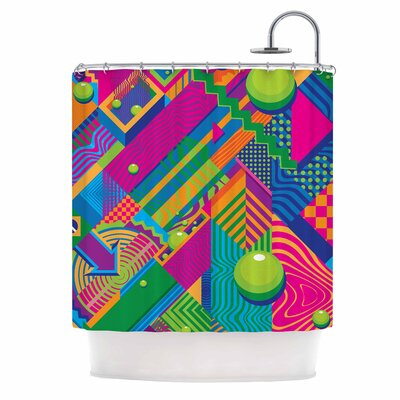 The Fountain Pop Art Shower Curtain