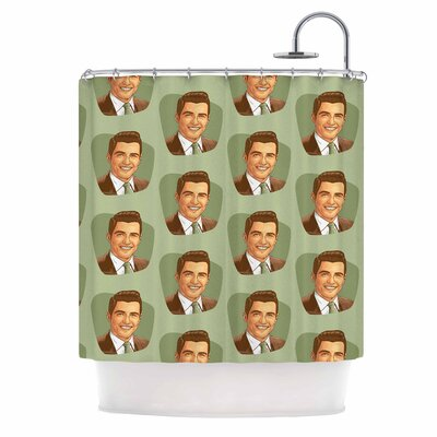 Retro Happy Fancy Dude Vintage Shower Curtain