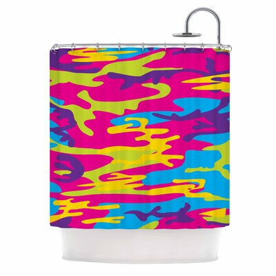 Flamboyant Camoflage Digital Shower Curtain