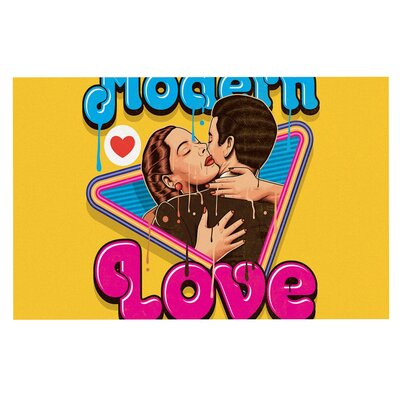 Modern Retro Love Neon Decorative Doormat