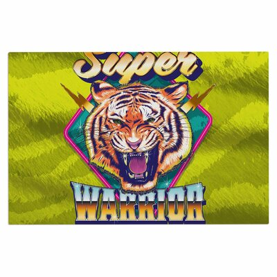 Super Furry Tiger Warrior Doormat