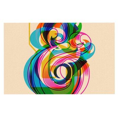 'Champersands' Digital Decorative Typography Doormat