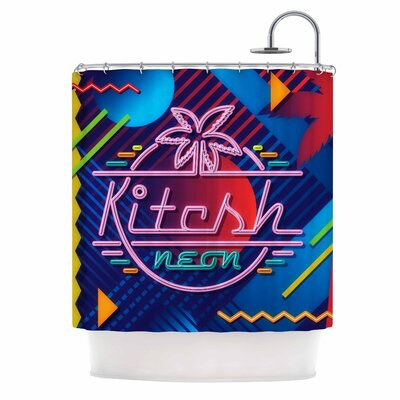 Kitsch Neon Shower Curtain
