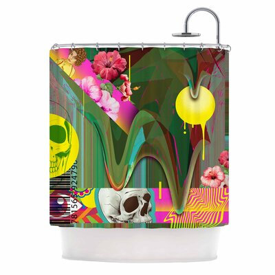 Almost Everything Collage Vintage Shower Curtain