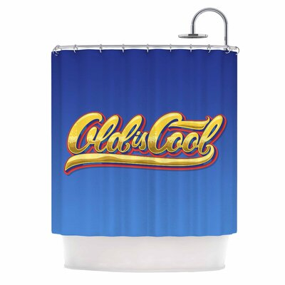 Old is Cool Vintage Typography Shower Curtain