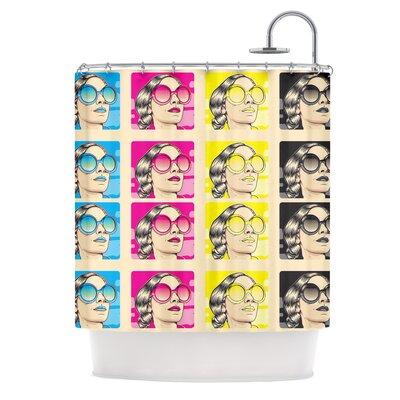 Cmyk Fashion Shower Curtain