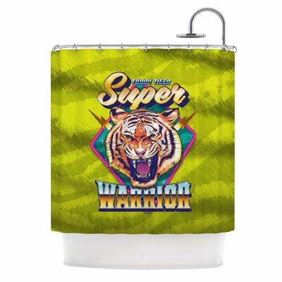 Super Furry Tiger Warrior Shower Curtain