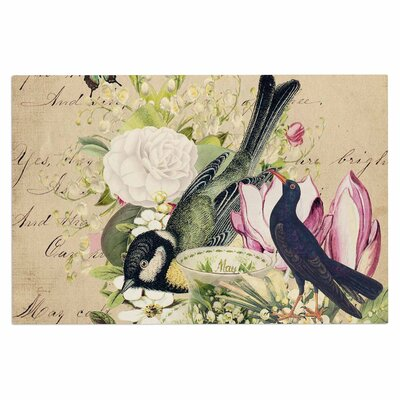 Vintage Tea Bird Illustration Decorative Doormat