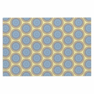 Blue Gold Brocade Doormat
