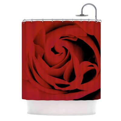 Red Photography Shower Curtain