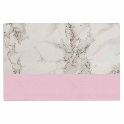 'Marble and Block' Doormat Color: Pink