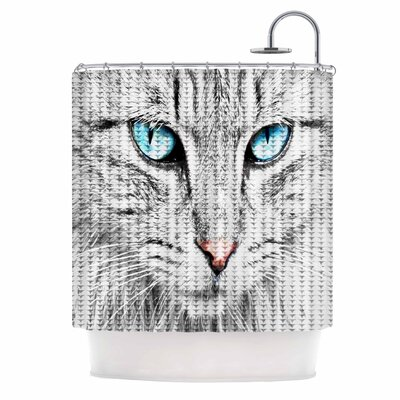 Cat Digital Shower Curtain
