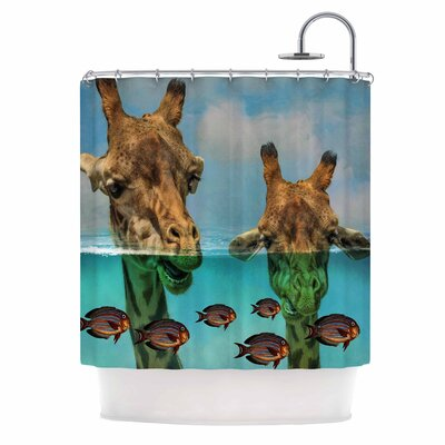 Larry & Fred Periscope Mixed Media Shower Curtain
