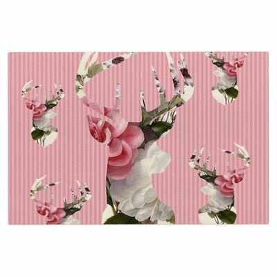 Floral Deer Doormat