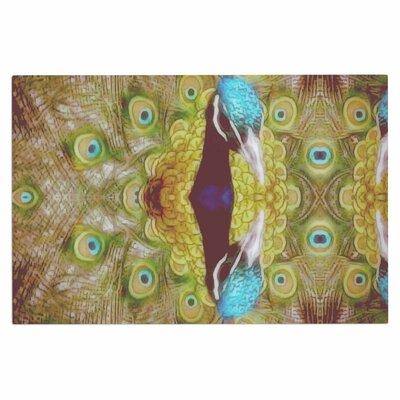 Reflected Peacock Decorative Doormat
