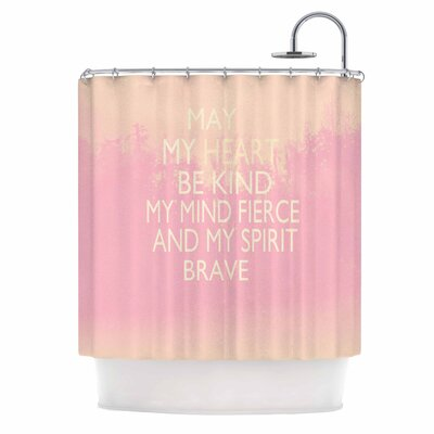 Kind hower Curtain Color: Pink/White
