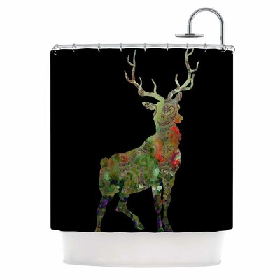 Paisley Deer Shower Curtain