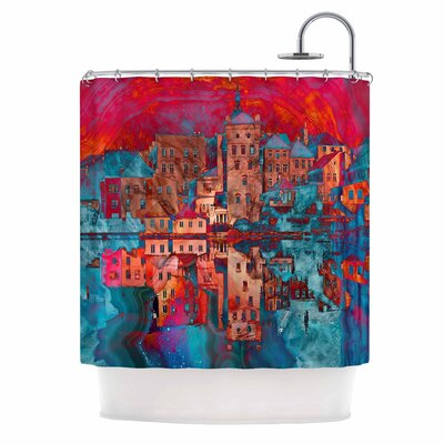 Marbled Skyline Shower Curtain