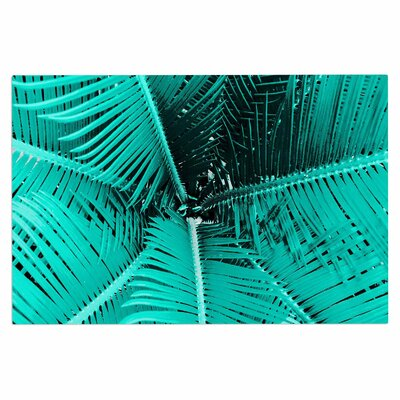 'Palm' Doormat Color: Aqua/Teal/Black