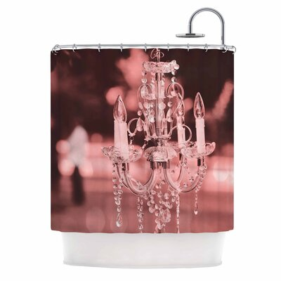 Pink Chandelier Digital Shower Curtain