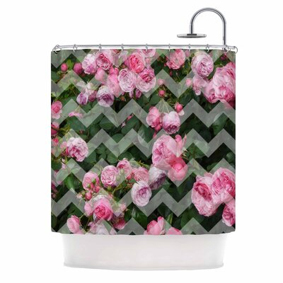 Chevron Rose Shower Curtain