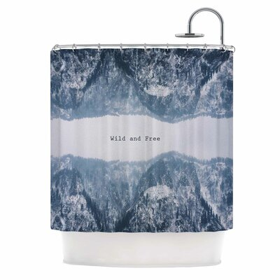 Wild and Free Digital Shower Curtain