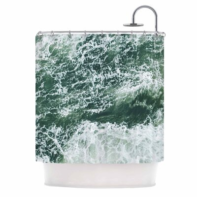 Oceans 2 Digital Shower Curtain