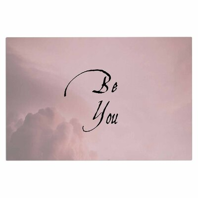 Be You Digital Decorative Typography Doormat