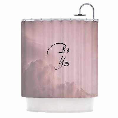 Be You Digital Typography Shower Curtain