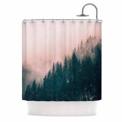 Pink Haze Digital Shower Curtain
