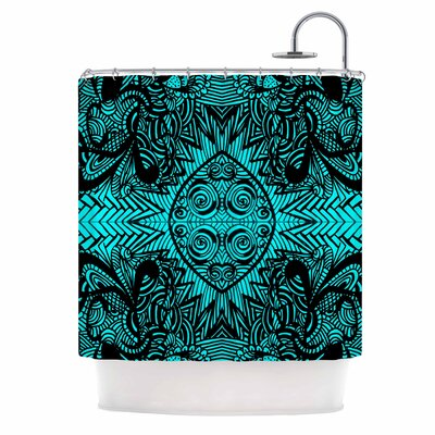 'The Elephant Walk' Ethnic Shower Curtain