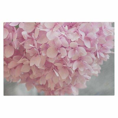 Pastel Pink Hydrangea Flowers Doormat