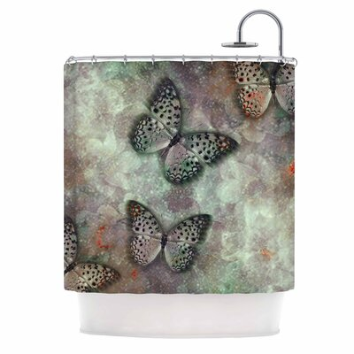 World of Butterflies Digital Shower Curtain