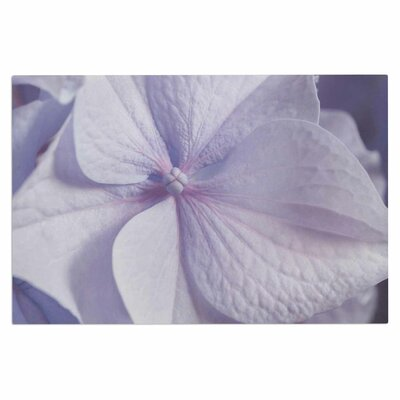 Pastel Purple Hydrangea Flower Doormat