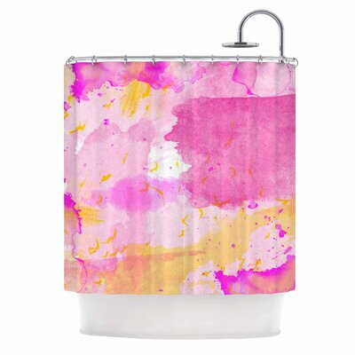 Aqua Pink & Yellow Shower Curtain