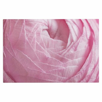 Pink Ranunculus Flower Petals Rose Decorative Doormat