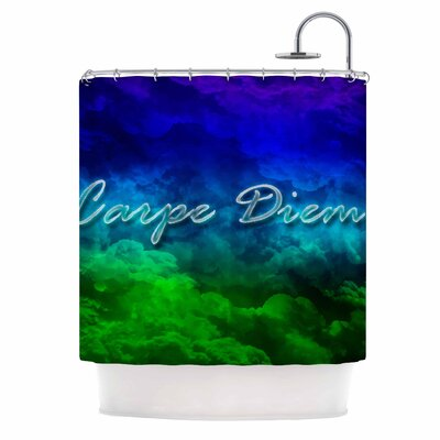 Carpe Diem Digital Shower Curtain