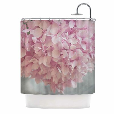 Pastel Pink Hydrangea Flowers Shower Curtain