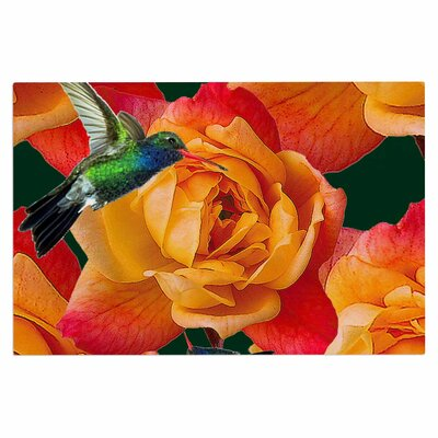 Roses in Hummingbird Doormat