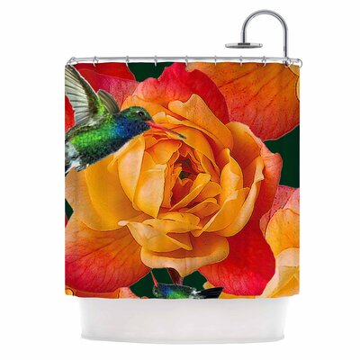 Roses in Hummingbird Nature Shower Curtain
