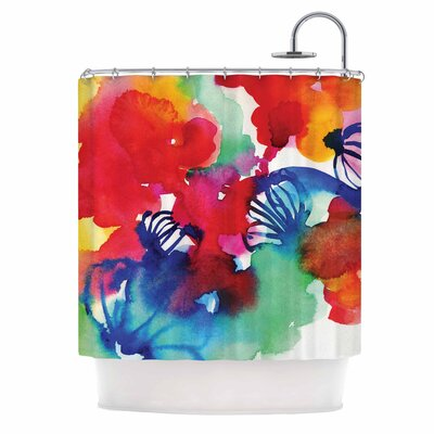 Celebration Floral Painting Shower Curtain