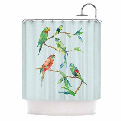 Parrot Party Shower Curtain