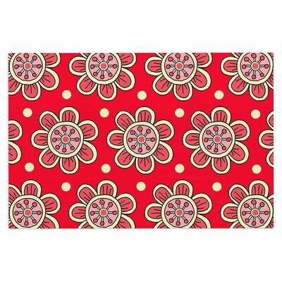Scarlet Flowers Doormat