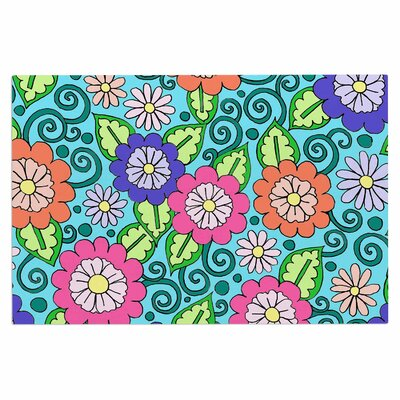 Summer Floral Flowers Decorative Doormat